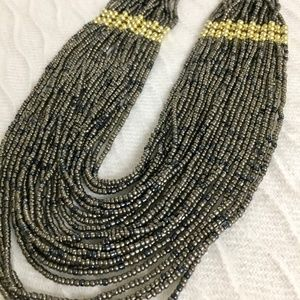 Gray Bead Necklace